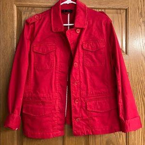 Talbots petite large, red cargo jacket. Never worn